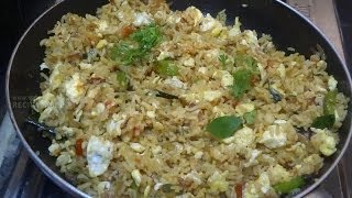 getlinkyoutube.com-Quick and Easy Egg Fried Rice in Telugu