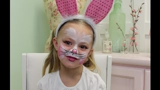 Easy Bunny Face Paint Tutorial