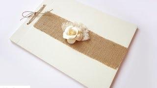 Libro Firme Per Matrimonio Fai Da Te   Shabby Wedding Guestbook