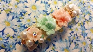 getlinkyoutube.com-花パーツを使って簡単 バレッタ 作り方 センスより作りたいという想い ❤ れちぇ 広島