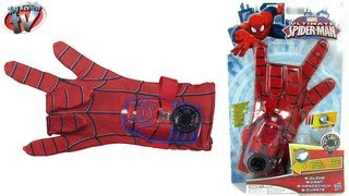 getlinkyoutube.com-ULTIMATE SPIDERMAN TOYS Hero FX Glove Costume Dress Up Toy Review Super Hero Video