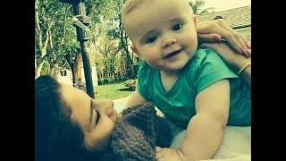 getlinkyoutube.com-Selena Gomez and her baby sister Gracie in her arms (part 1)