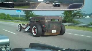getlinkyoutube.com-Passmore Racing Hot Rods Rat Rod and Muscle Cars Cruisin to Gadsden In Car Cam