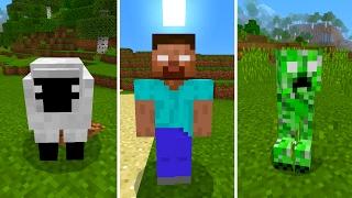 New Herobrine Mobs in Minecraft Pocket Edition (Herobrine's Everywhere Addon)