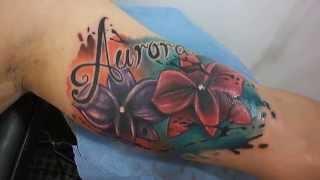 getlinkyoutube.com-Tattoo Cover Free Hand