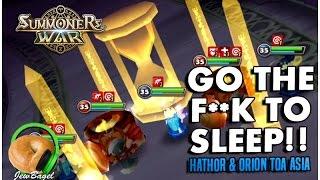 getlinkyoutube.com-SUMMONERS WAR : Go The F**K To Sleep!! (Hathor & Orion ToA Asia + More)