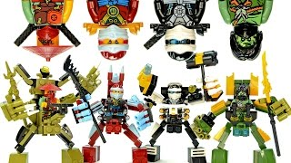getlinkyoutube.com-Ninjago Mechanical Nano Suits LEGO KnockOff Building Set 4 w/ Zane Nya Morro & Ronin