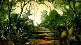 getlinkyoutube.com-Woodland Watercolour Painting Demonstration