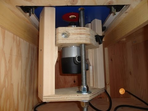 Home-made router lift