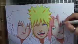 getlinkyoutube.com-Speed Drawing TEAM 7 - Naruto Tribute