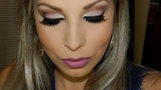 getlinkyoutube.com-Maquiagem especial para festas durante o dia, com Lu Ferraes