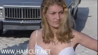 getlinkyoutube.com-BLONDE BEAUTY BECOMES BALD HAIRCUT HEADSHAVE