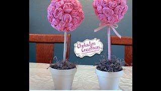 getlinkyoutube.com-Chuladas Creativas :: Bouquet de Rosas Crepe :: Rosas Crepe