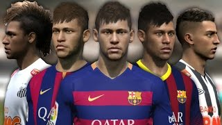 Neymar from FIFA 10 to 16 (Face Rotation and Stats)