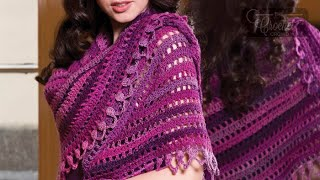 getlinkyoutube.com-How to Crochet a Shawl: Top Down Shawl