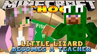 getlinkyoutube.com-Minecraft School : Little Kelly - LITTLE LIZARD IS THE NEW TEACHER!