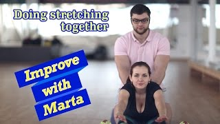 getlinkyoutube.com-Doing stretching together - Improve with Marta