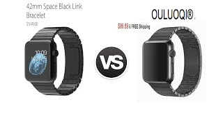getlinkyoutube.com-Apple VS OLUOQI Apple Watch Link Bracelet