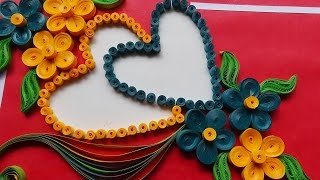 getlinkyoutube.com-☑️quilling paper art  ❤ How To Make a Beautiful heart shaped ❤ (квиллинг)quilling  greeting cards