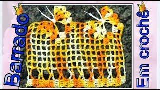 getlinkyoutube.com-Barrado em crochê motivo borboleta passo a passo detalhadamente