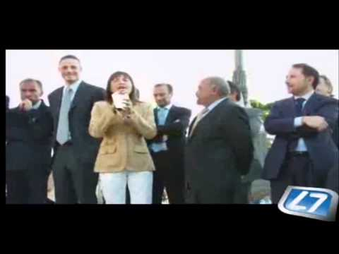 """Polverini contestata a Genzano: """"Zecche, non mi fate paura!"""" (10/05/'11)"""
