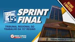 Sprint Final TRT 15ª Região   Gramática e Interpretação de Texto + Redação