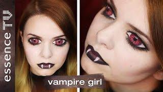 getlinkyoutube.com-halloween make up tutorial (deutsch) - scary vampire girl  l essenceTV