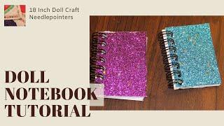 getlinkyoutube.com-Doll Notebook - How to make a doll notebook