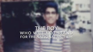 getlinkyoutube.com-The boy who will not stand for the National Anthem.