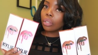 getlinkyoutube.com-Kylie Lip Kit: Lip Swatches on Dark Skin