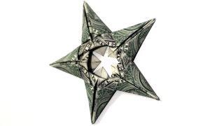 getlinkyoutube.com-5 Dollar Star Origmai Tutorial - How to make this Dollar Origami Star