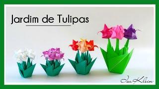 getlinkyoutube.com-Origami: Jardim de Tulipas - Tulip Garden