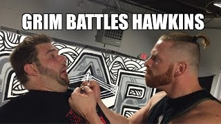 GRIM ATTACKS CURT HAWKINS at CREATE A PRO WRESTLING SCHOOL!!