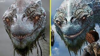 God of War 2016 vs 2017 vs 2018 Trailer Early Graphics Comparison