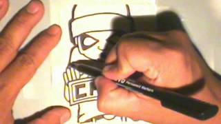 getlinkyoutube.com-making a graffiti sticker for (CHAZ)  by WIZARD
