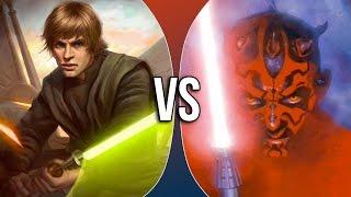 getlinkyoutube.com-Versus Series | Luke Skywalker vs Darth Maul