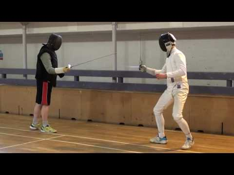 Foil Fencing Lesson Adam Blight & Ayman   3