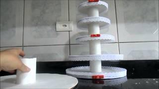 getlinkyoutube.com-Torre porta cupcakes, docinhos, trufas, potinhos de brigadeiros e muito mais...