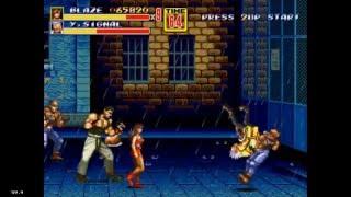 Streets Of Rage 2 - Mania walkthrough as Blaze