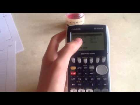 how to find critical value on casio fx-9750gii