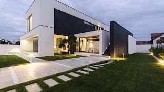 getlinkyoutube.com-MODERN C HOUSE - MODERN HOUSE DESIGN WITH SIMPLE  BLACK AND WHITE COLORS COMBINED WITH AMAZING SHAPE