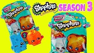 getlinkyoutube.com-8 NEW Shopkins Season 3 Surprise Baskets Rare Taco Terrie Suzie Sundae Series 3 Toys DCTC