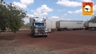 getlinkyoutube.com-Massive road trains at roadhouses in outback Australia