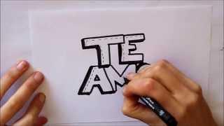 getlinkyoutube.com-Cómo dibujar TE AMO letras Dibuja Conmigo Dibujos de Amor