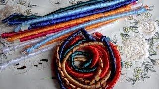 getlinkyoutube.com-Спиральки из атласных лент. Варка и запекание