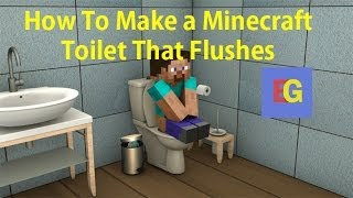 getlinkyoutube.com-How To Make a Minecraft Toilet That Flushes! [2014][HD]