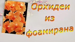 getlinkyoutube.com-Орхидея из фоамирана. Цветы из фоамирана мастер класс