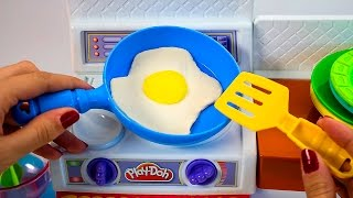 getlinkyoutube.com-Play Doh Meal Makin Kitchen Playset Play Dough Mini Kitchen Chef Cocinita de Juguete Toy Videos