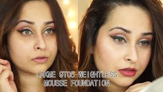 getlinkyoutube.com-Lakme 9to5 Weightless Mousse Foundation - Rose Ivory | Review