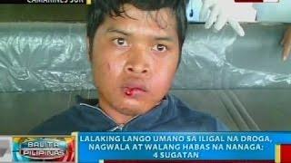 Lalaking lango umano sa iligal na droga, nagwala at walang habas na nanaga; 4 sugatan
